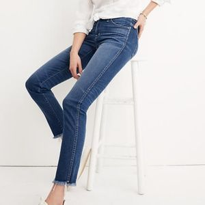 Madewell Slim Straight Jeans Raw Hem Edition